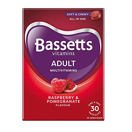 2 x 30 Pastilles Bassetts Raspberry Pomegranate Chewable Multivitamins Adults