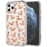 MOSNOVO iPhone 11 Pro Max Hülle, Fuchs Muster TPU Bumper mit Hart Plastik Hülle Durchsichtig Schutzhülle Transparent für iPhone 11 Pro Max (Fox)
