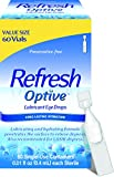 Refresh Optive Lubricant Eye Drops For Dry Eyes, Preservative-Free, 0.01 Fl Oz Single-Use Containers, 60 Count
