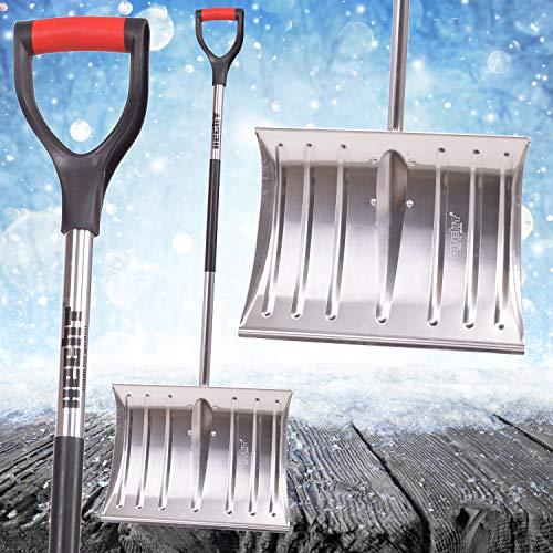 Hecht 465 AL Schneeschaufel mit 46 cm Räumbreite Schneeräumer Schneeschieber mit Aluminiumschild und D-Shaped Griff - 3