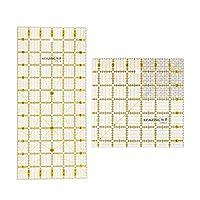 正方形/長方形 硬質プラスチック オムニグリッド定規 縫製 衣類 キルティング 実用的 2ピース
