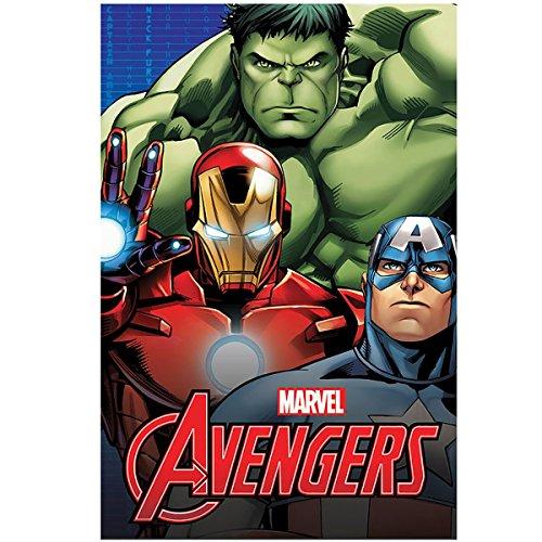 Hasbro Plaid in Pile Marvel Avengers 100X140