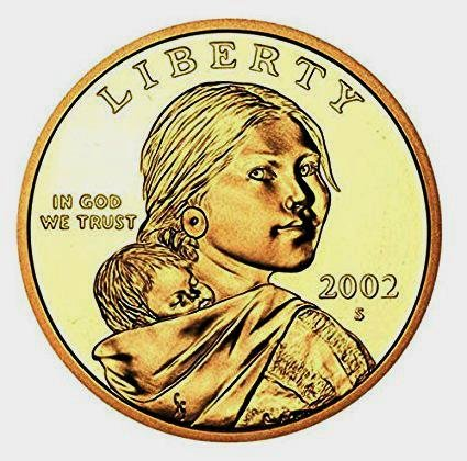 2002 S Sacagawea Native American Proof US Coin DCAM Gem Modern Dollar $1 $1 Proof DCAM US Mint