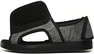 Hombre Sandalias Diabéticas,Old People Widen Sandalia Ajustable, Zapatos de Diabetes Anchos y gordos -34,Unisex-Adulto Cal...