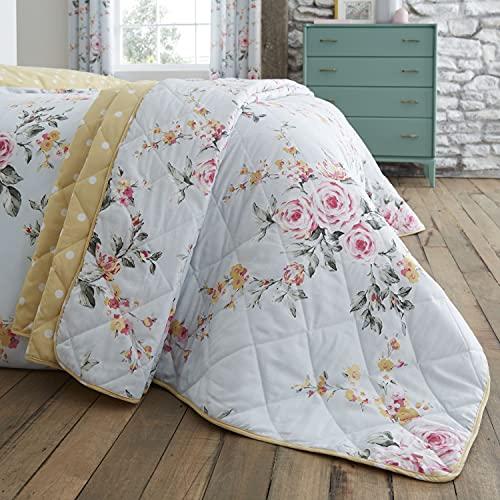 Catherine Lansfield Tagesdecke: 220 x 230 cm, 52prozent Polyester, 48prozent Baumwolle, Duck Egg, Bedspread-220x230 cm