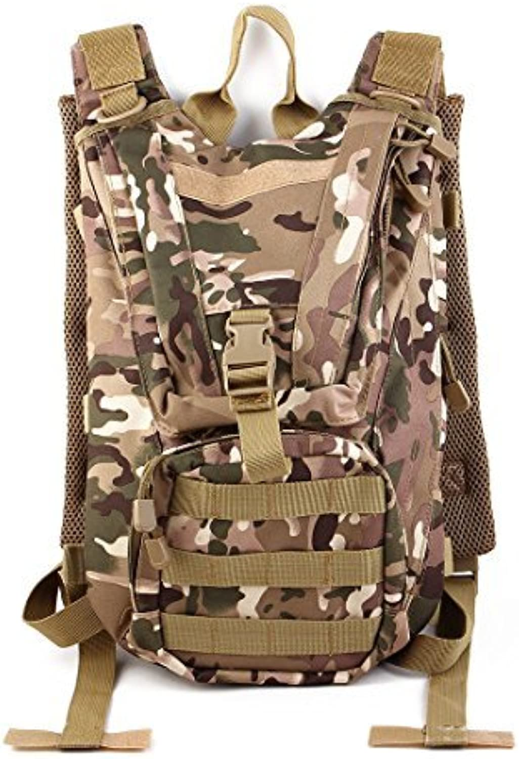 DealMux Outdoor Hiking Camping Climbing Biking Cycling Hydration Backpack Pack CP Camouflage color w 2.5L Water Bladder Bag