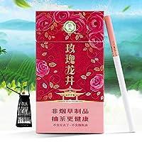 中国プエル茶 緑茶 紅茶 ジャスミン茶 烏龍茶 100%の無煙 なしニコチン 健康なお茶煙 禁煙 禁煙支援 (赤いバラ茶, 1 パッケージ)
