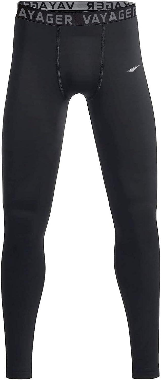 VAYAGER Youth Boys' Compression Leggings Thermal Base Layer Pants Athletic Runing Workout Tights for Baseball,Football,Yoga
