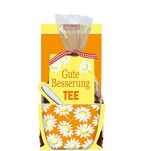 STEINBECK Gute Besserung Früchtetee 50g Tee Geschenk Blumen Gesundheit Krankheit Mitgebsel Genesungswünsche