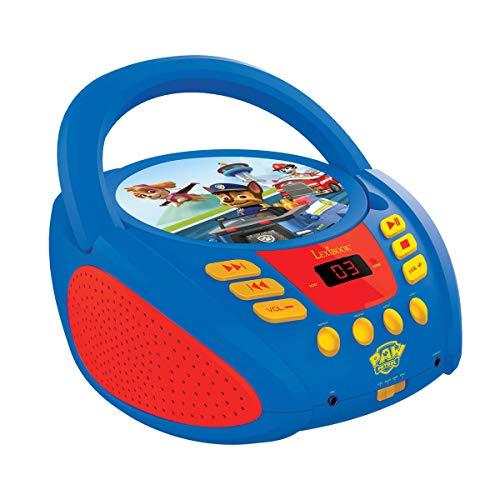 Lexibook Paw Patrol Boombox CD-speler, AUX-ingang, AC-werking of batterij, blauw/zwart, RCD108PA_10