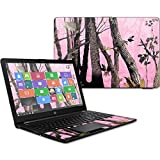 MightySkins Skin Compatible With HP 15t Laptop 15.6' (2017) - Pink Tree Camo | Protective, Durable, and Unique Vinyl Decal wrap cover | Easy To Apply, Remove, and Change Styles | Made in the USA