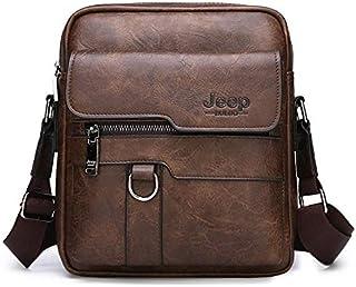 جيب بولو حقيبة للجنسين-بني - حقائب جلدية طويلة تمر بالجسم