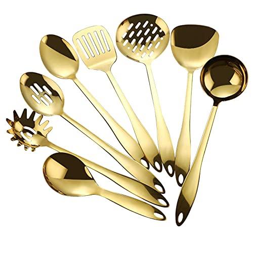 JWDS Kit Utensilios de Cocina 1 Unid Herramientas De Cocción De Acero Inoxidable Utensilios De Cocina Turner Soup Stay Stay Stayer Spoon Colador De Utensilios De Cocina
