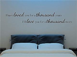pegatinas de pared infantiles Te he amado por mil años Te amaré por mil más por habitación