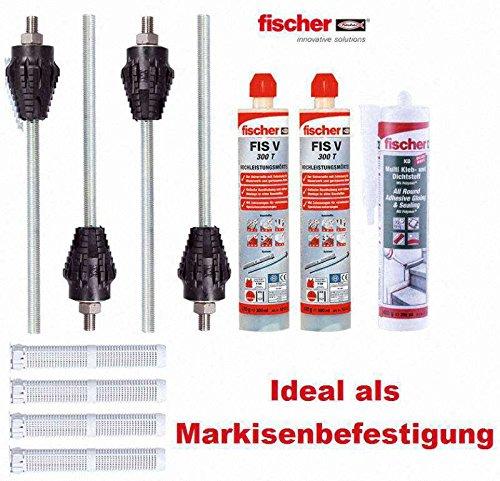 FISCHER Thermax Befestigungsset mit Montagemörtel und Kleb- Dichtmasse M12 12/110