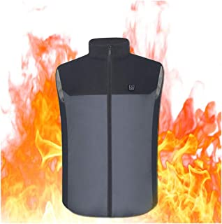 USB Electric Heated Vest for Men and Women, Washable Cold-proof Portable Lightweight Warm Gilet Coat Heating Jacket for Wi...