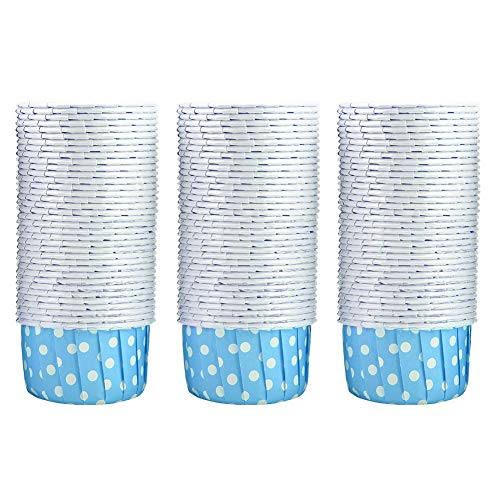 100PCS Mini Cupcake Liners, Disposable Paper Baking Cups Cupcake Holder Baking Supplies for Home Party Wed(Blue)