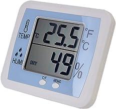 YIN YIN, higrómetro Temperatura, termómetro Digital electrónico higrómetro seco medir con precisión la Temperatura Interior y la Humedad, 128x108x19mm (Size : 128x108x19mm)