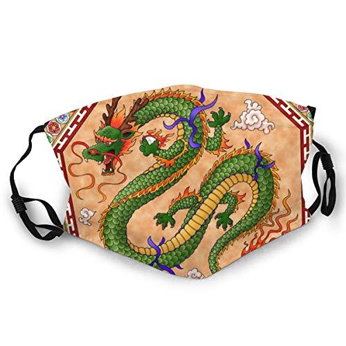 Verstellbarer Mundschutz, traditioneller chinesischer Drache, Anti-Staub, Erwachsene, bequem, halbes Gesicht, für Männer und Frauen