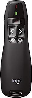 Logitech R400 Télécommande de Présentation sans Fil, 2,4 GHz/Récepteur USB, Pointeur Laser Rouge, Portée de 15 Mètres, 6 B...