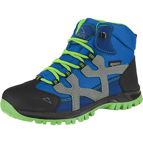 McKINLEY Unisex-Kinder Santiago Pro Aquamax Trekking- & Wanderstiefel, Grün (Green Lime/Blue Dark 906), 34 EU