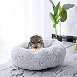 Small Animal Guinea Pig Hamster Bed House, Rabbit Chinchilla Bed Mat Cage Sleeping Nest, Cushion Fluffy Plush for Baby Guinea Pigs Small Animals(Light Grey-30cm)