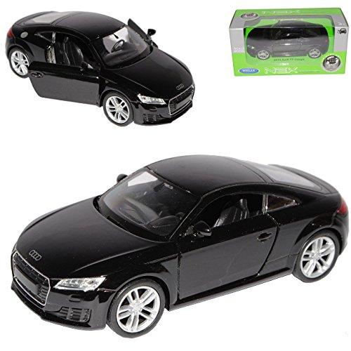 Welly A-U-D-I TT 8S Coupe Schwarz 3. Generation Ab 2014 ca 1/43 1/36-1/46 Modell Auto mit individiuellem Wunschkennzeichen