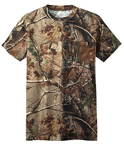 Russell Outdoors Mens Camo Short Sleeve Explorer Shirt w/Pocket M L XL 2XL 3XL
