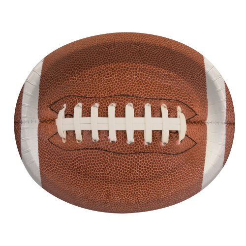 Creative Converting 8 Count Touchdown Time Oval Platters