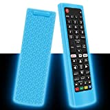 Silicone Protective Case for LG AKB75095307 AKB75375604 AKB74915305 Remote Control, Shockproof Anti-Lost Remote Cover Holder Skin Sleeve Protector for LG Smart TV Remote (Glow Blue)