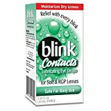 blink Contacts Lubricating Eye Drops For Soft & RGP Lenses - 0.34 oz, Pack of 5