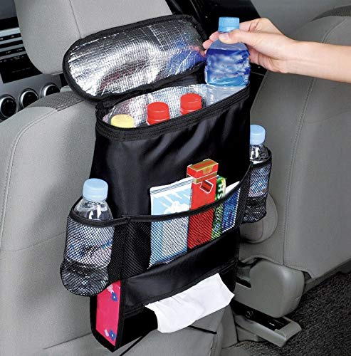 Multifunzionale per l'isolamento dell'auto, organizer per il sedile dell'auto, borsa termica multi-tasca, organizer da viaggio per bottiglie e bevande