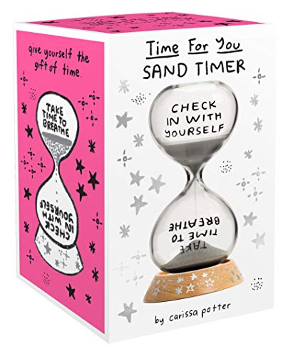 Time for You Sand Timer: (5-Minute Hourglass for Self-Care and Stress Relief, Mindfulness Glass...