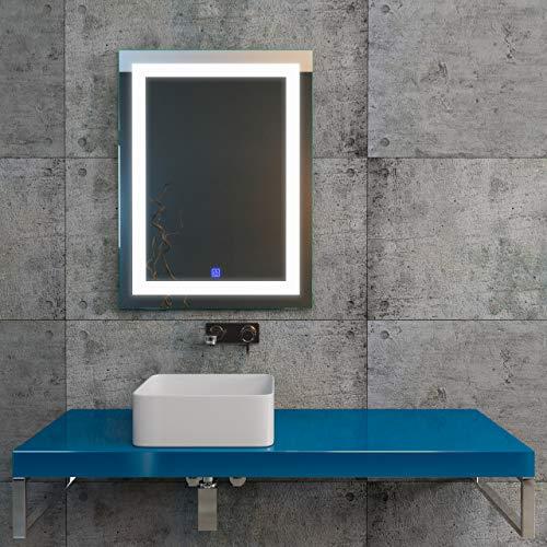KERABAD LED-Badspiegel 60x80cm K204 Wandspiegel Badezimmerspiegel Badezimmer Möbel mit Beleuchtung