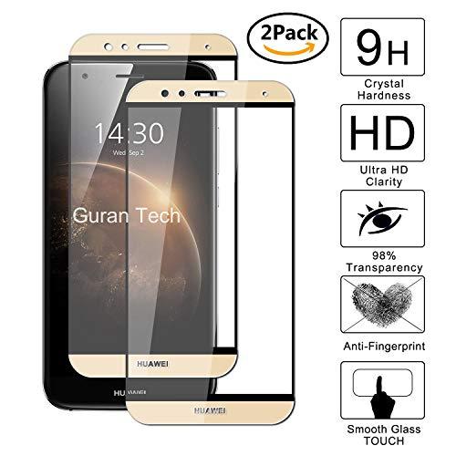 Guran [2 Paquete] Protector de Pantalla para Huawei G8 / Huawei GX8 [Full Coverage] Vidrio Cristal Templado 100% Cobertura Completa Film - Dorado