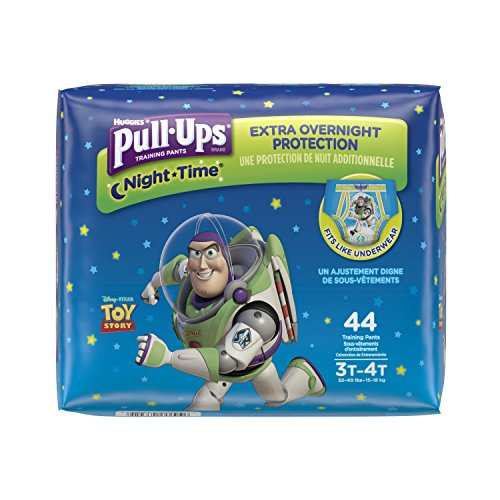 Pull-Ups Night-Time Training Pants for Boys, 3T-4T, 44 Count (Pack of 2)(Packaging May Vary)
