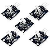 AZDelivery 5 x KY-022 Set de IR Receptor de infrarrojos CHQ1838 Módulo sensor para Arduino con eBook incluido