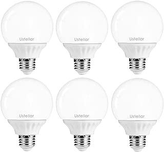 Ustellar 6 Pack 5W G25 E26 LED Bulbs, 40W Incandescent Bulb Equivalent, 450lm Vanity Light Bulbs, 270° Beam Angle, Globe Light Bulbs, Makeup LED Light Bulbs, Non-Dimmable, 2700K Warm White