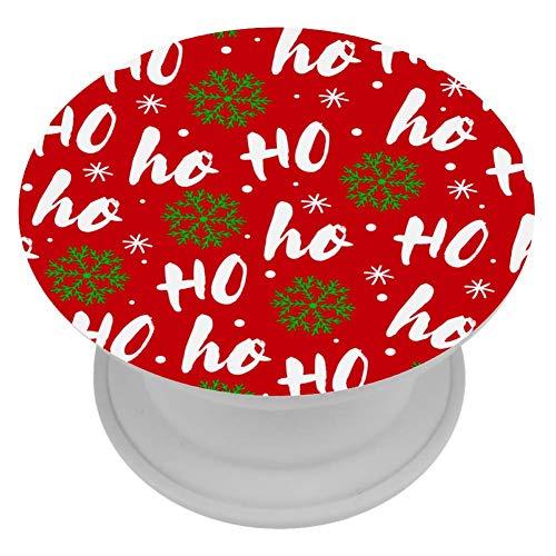 henghenghaha ABS Grip voor Telefoons & Tabletten Handhouder Knop 1 STKS Rode Gitaren, 4x4 cm, Rode Kerstman lach