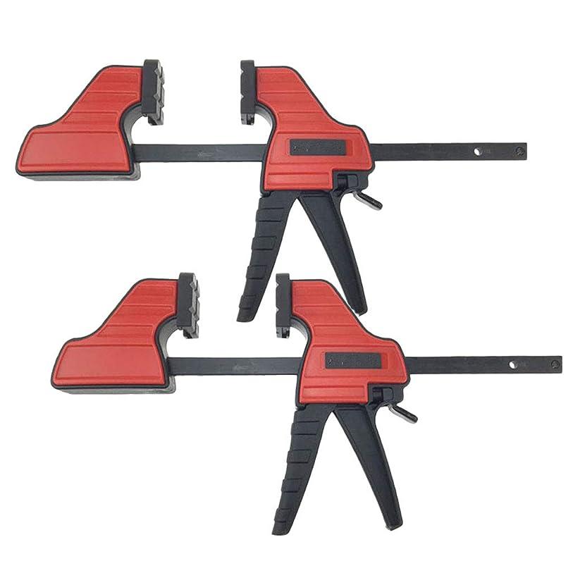 テーブル計器フィドル木工ツール Fクランプ 木工クランプ コーナークランプ 4インチ 木工大工ツール 2個セット