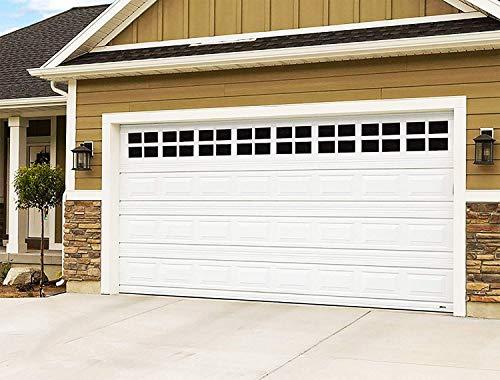 2 Car Garage Kits - 32 Pcs Household Easy Installation Magnetic Windows Panels for Car Garage Door Panes Fake Faux Magnetic Windows Decorative Hardware - Size 6.125