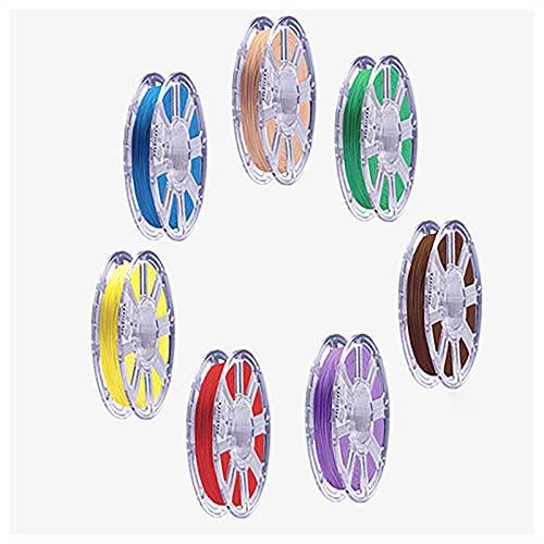 Yimihua 3D Printer Filament Set, PLA Filament 1.75mm +/- 0.02 mm, 7x250g,7 volumes in total,for 3D printer and 3D pen
