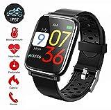 Fitness Tracker,Tracker d'activité avec écran Couleur de 1,3' IP67 Etanche Bracelet Sport Podomtre Calorie Smartwatch avec...