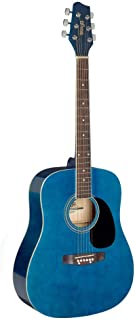 Stagg 6 String Acoustic Guitar, Right (SA20D 3/4 BLUE)