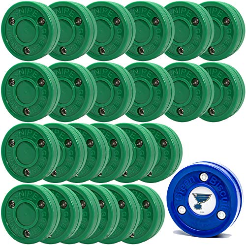 Green Biscuit 24 Pack Snipe Shooters- NHL Puck/GB Sticker