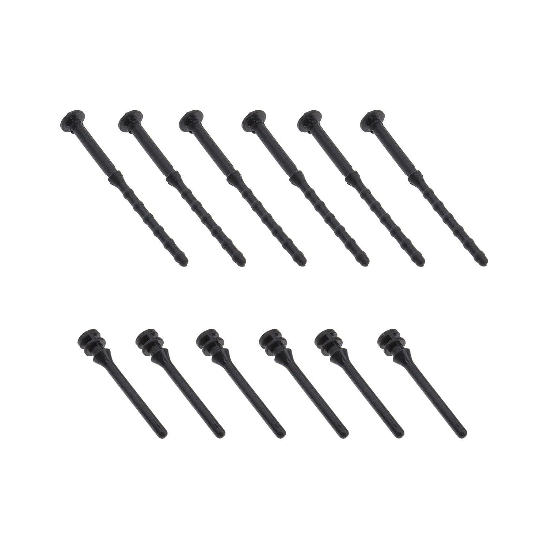 100pcs 43mm y 65mm goma ventilador montaje CPU ventilador Pin remache negro goma suave reducción ruido anti-vibración tornillos