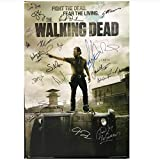 WTHKL The Walking Dead AMC TV Show Signed Art Film Print Posters e Impresiones Lienzo Arte de la Pared para la decoración de la Sala de Estar Regalo -50x70 Cm Sin Marco 1 PCS