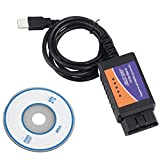 HAIN ELM327 OBD2 Car Diagnostic Scanner, New Version V1.5 OBDII Code Reader Engine Check