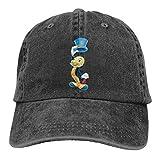 Pinocchio Jiminy Cricket 3D Print Baseball Caps Adjustable Sun Hat for Men Women Black