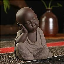 Mini Buddha Statues Small Monk Color Sand Ceramic Sculpture Home Club geomantic Decoration Purple Sand Figurines Tea Pet D...